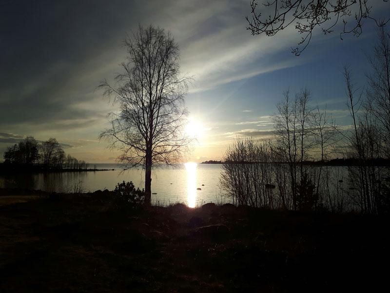 Solnedgång i Hult